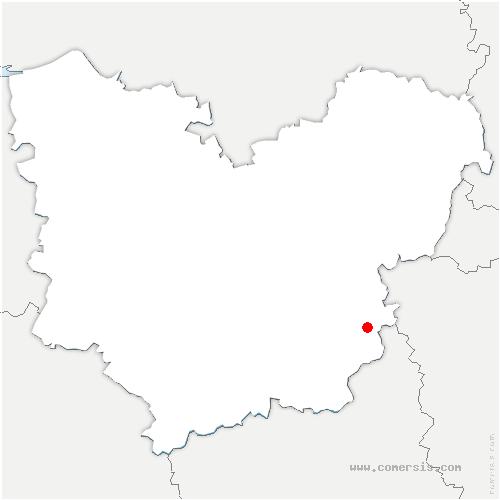carte de localisation de Épieds