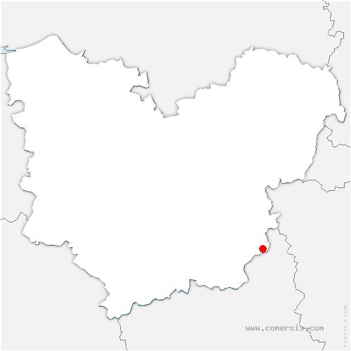 carte de localisation de Ézy-sur-Eure