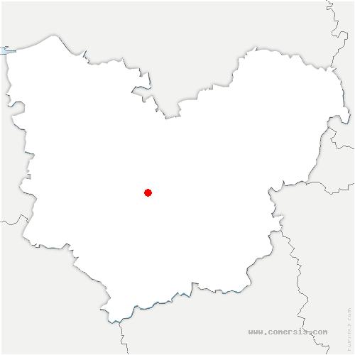 carte de localisation de Faverolles-la-Campagne