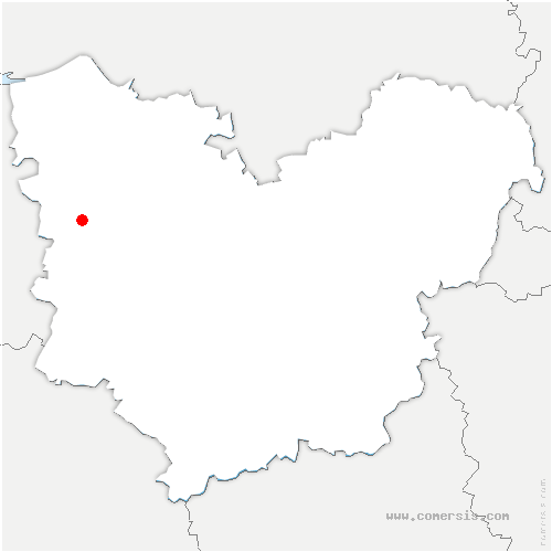 carte de localisation de Favril