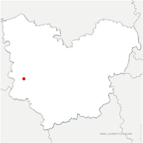 carte de localisation de Ferrières-Saint-Hilaire