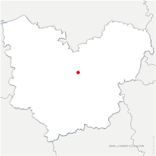 carte de localisation de Feuguerolles