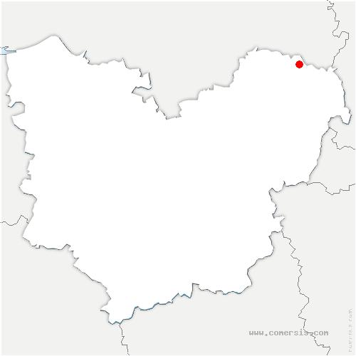 carte de localisation de Fleury-la-Forêt