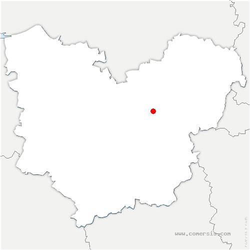 carte de localisation de Fontaine-Heudebourg