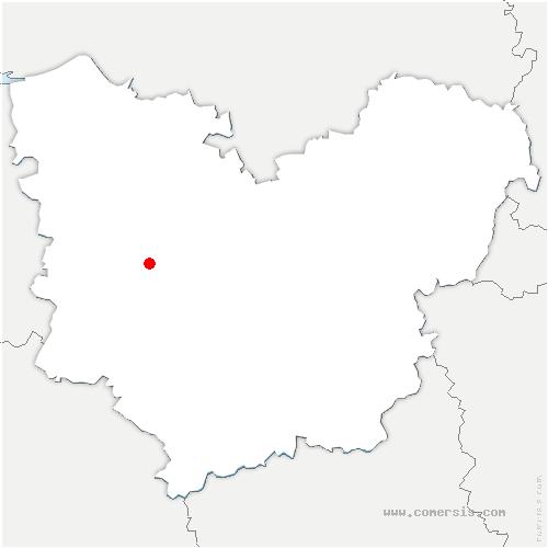 carte de localisation de Fontaine-l'Abbé
