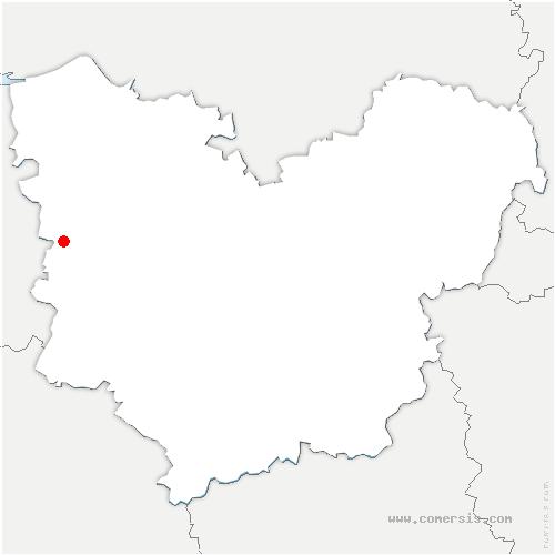 carte de localisation de Fontaine-la-Louvet