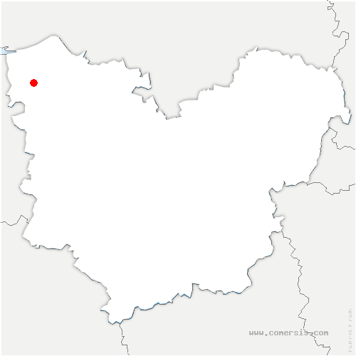 carte de localisation de Fort-Moville