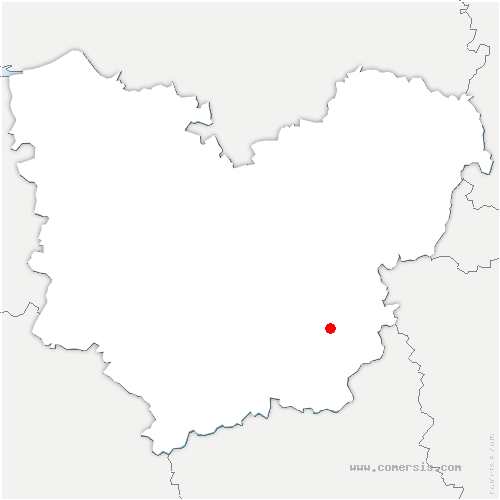 carte de localisation de Foucrainville