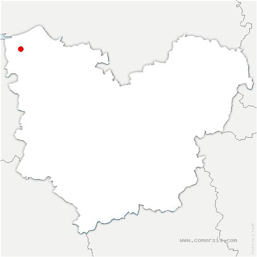 carte de localisation de Foulbec
