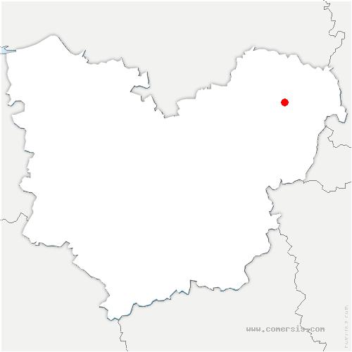 carte de localisation de Frenelle-en-Vexin