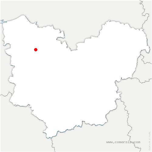 carte de localisation de Freneuse-sur-Risle