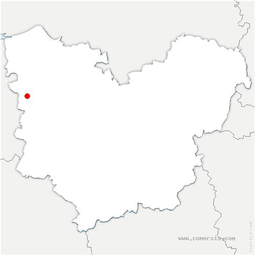 carte de localisation de Fresne-Cauverville