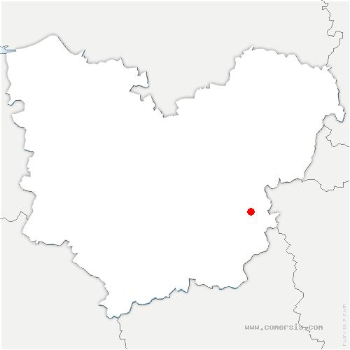 carte de localisation de Gadencourt