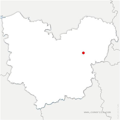 carte de localisation de Gaillon