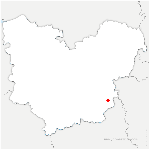 carte de localisation de Garennes-sur-Eure