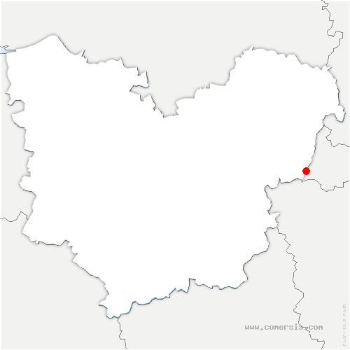carte de localisation de Gasny
