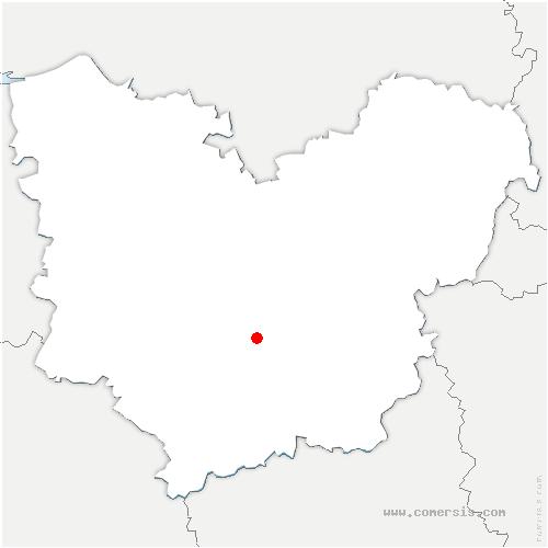 carte de localisation de Gaudreville-la-Rivière