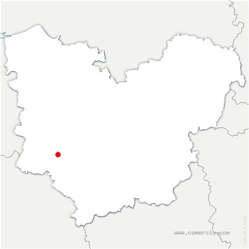 carte de localisation de Gisay-la-Coudre