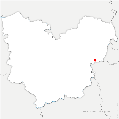 carte de localisation de Giverny
