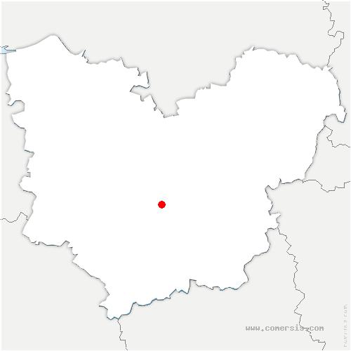 carte de localisation de Glisolles