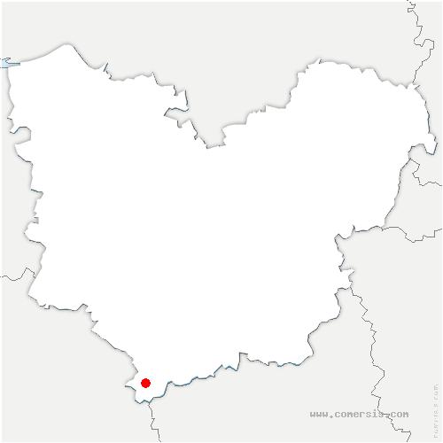 carte de localisation de Gournay-le-Guérin