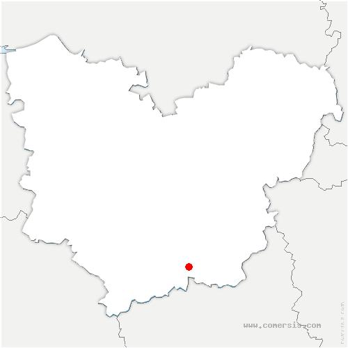 carte de localisation de Grandvilliers