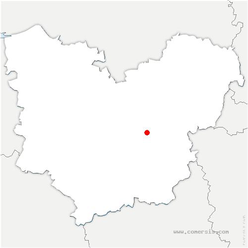 carte de localisation de Gravigny