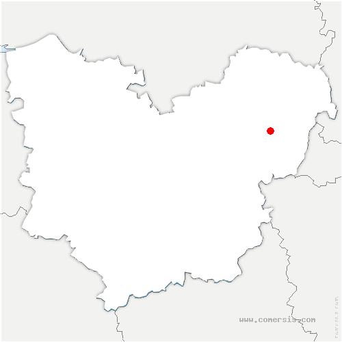 carte de localisation de Guiseniers
