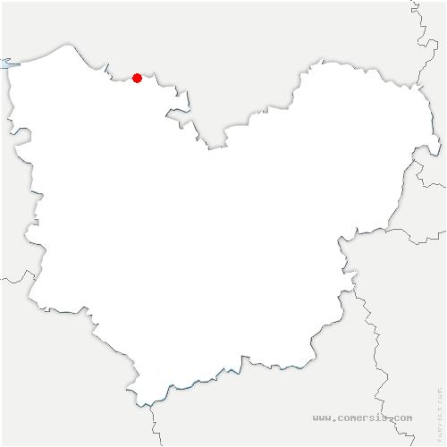 carte de localisation de Hauville