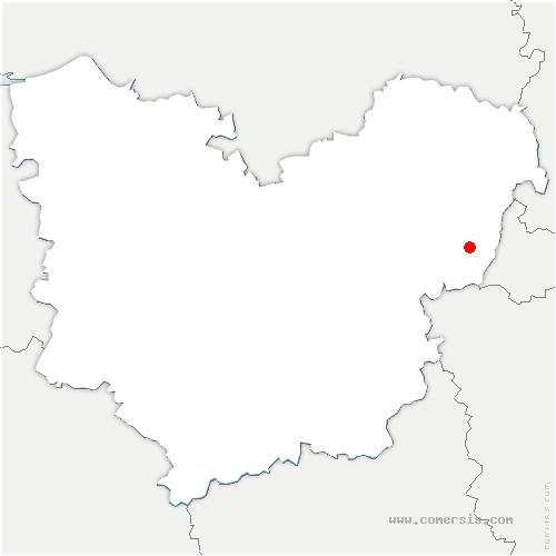 carte de localisation de Heubécourt-Haricourt