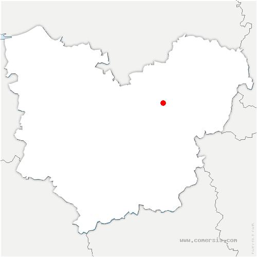 carte de localisation de Heudebouville