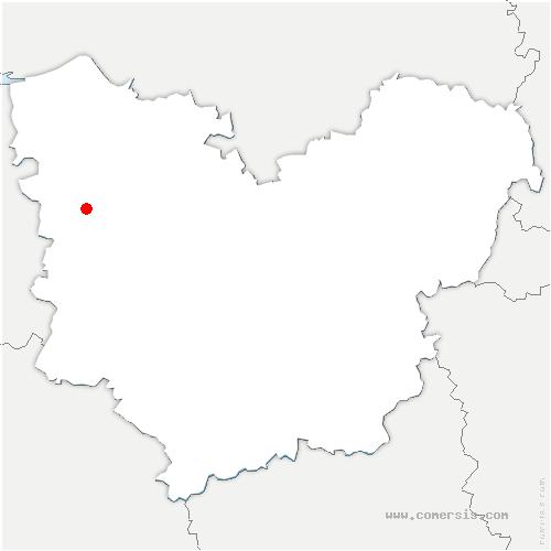 carte de localisation de Heudreville-en-Lieuvin