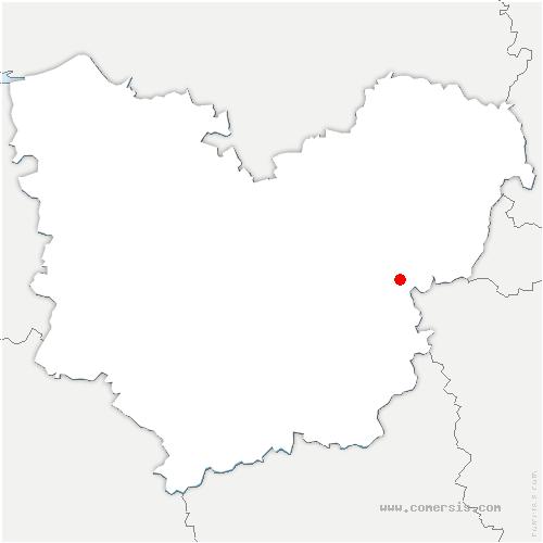 carte de localisation de Heunière