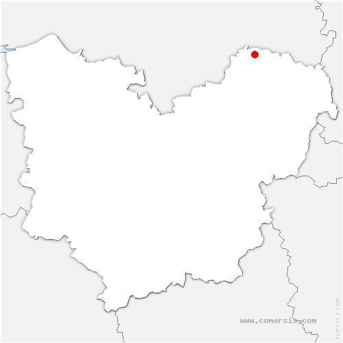 carte de localisation de Hogues