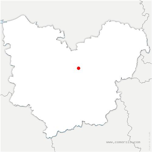carte de localisation de Hondouville