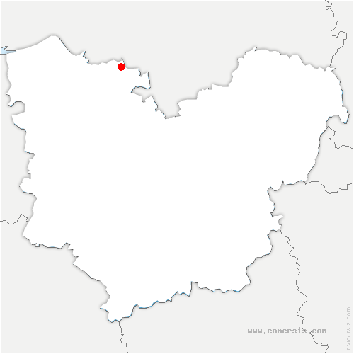 carte de localisation de Honguemare-Guenouville
