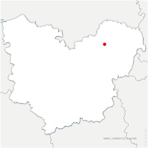 carte de localisation de Houville-en-Vexin