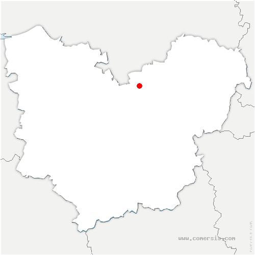 carte de localisation de Incarville