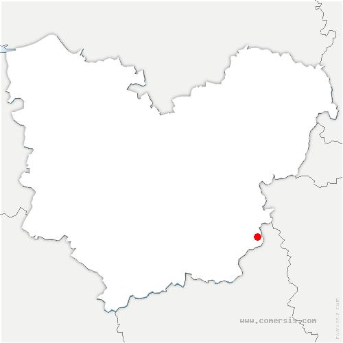carte de localisation de Ivry-la-Bataille