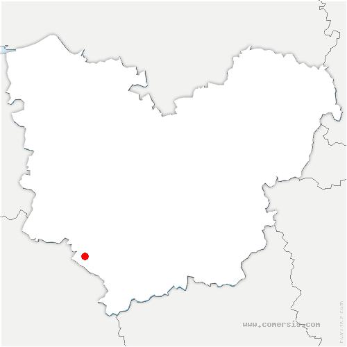 carte de localisation de Juignettes