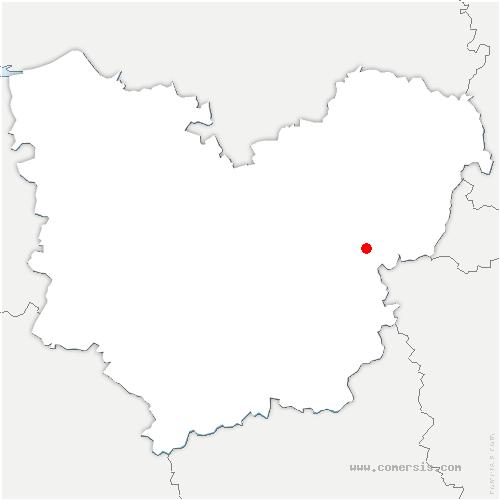 carte de localisation de La Chapelle-Longueville