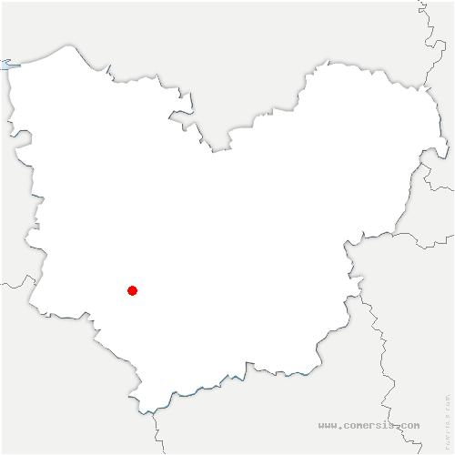 carte de localisation de La Vieille-Lyre