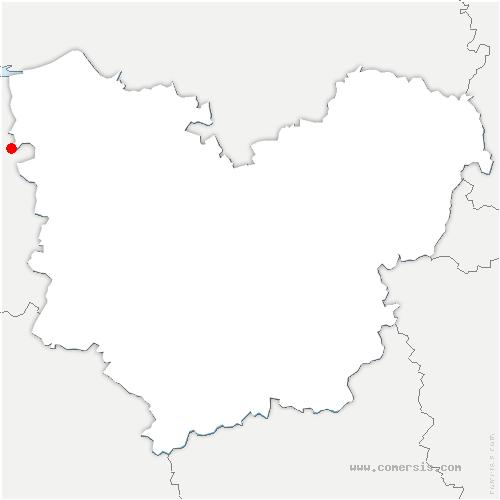 carte de localisation de Lande-Saint-Léger