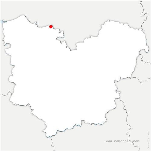 carte de localisation de Landin