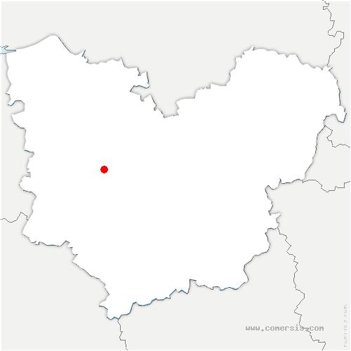 carte de localisation de Launay