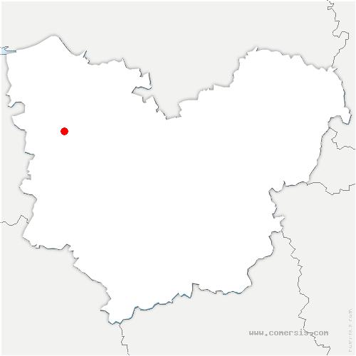 carte de localisation de Le Mesnil-Saint-Jean