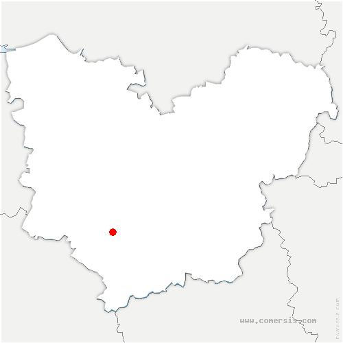 carte de localisation de Lesme
