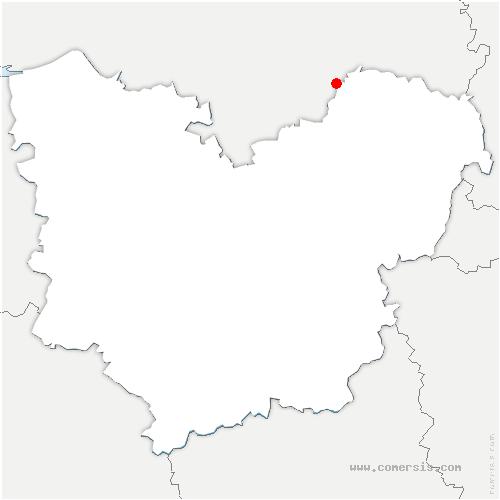 carte de localisation de Letteguives