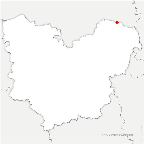 carte de localisation de Lorleau
