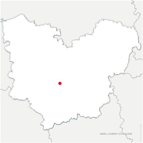 carte de localisation de Louversey
